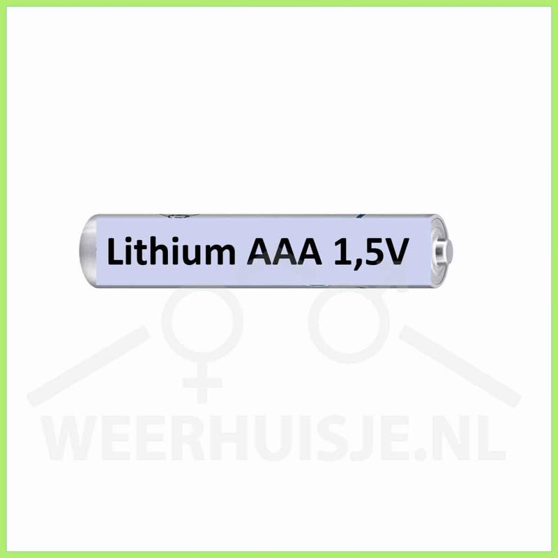 Set 4x AAA lithium batterijen
