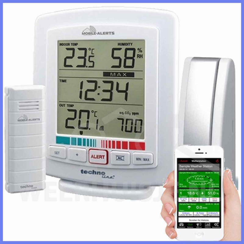 MA10005  Mobile-Alerts CO2 set. Gateway, sensor, display