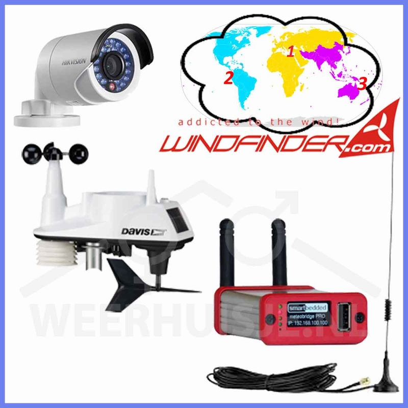 Windfinder weather station + camera <b>( &euro;684,- ex VAT)</b>