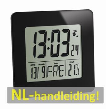 TFA 60.2525.01 Radiografische klok met binnentemperatuur.