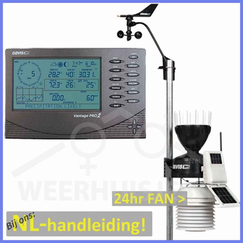 Davis 6153 VP2 Vantage Pro 2 weather station with 24hr fan
