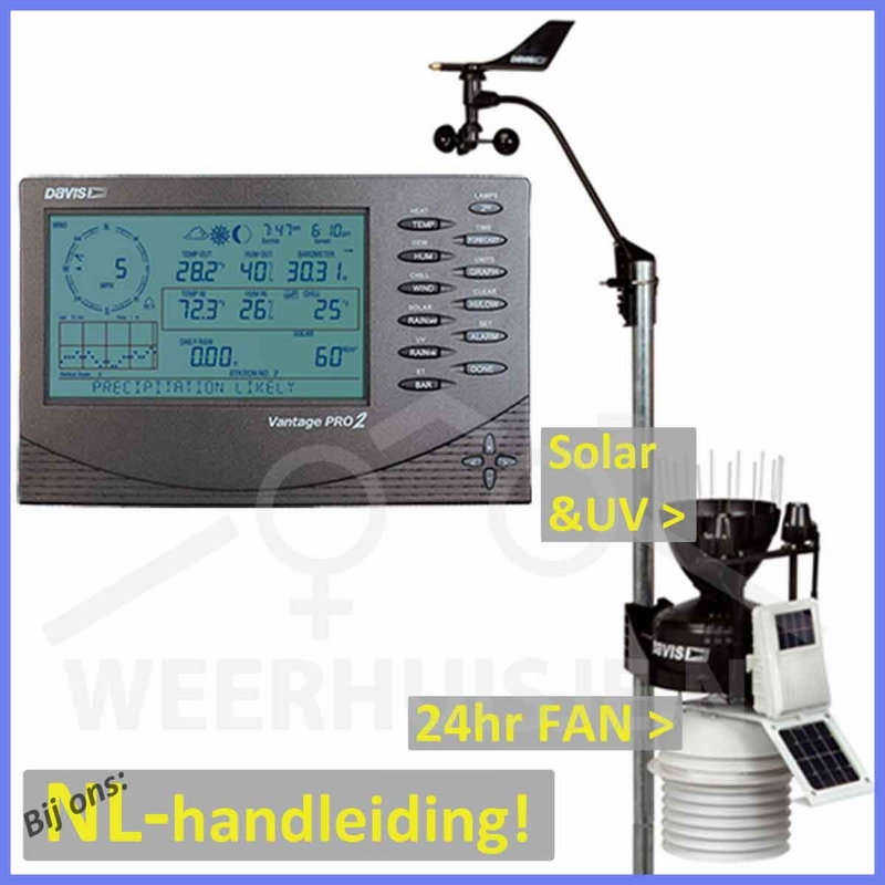 Davis 6163 Vantage Pro2 Plus+fan professional weatherstation