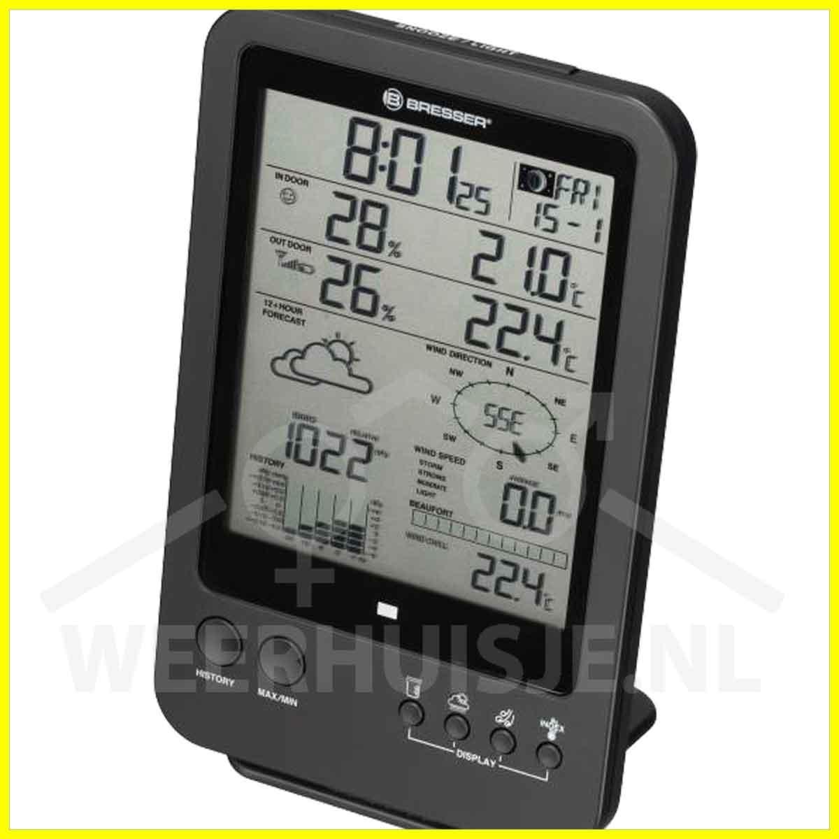 BR-7002510 Bresser 5-in-1 weerstation met LCD display