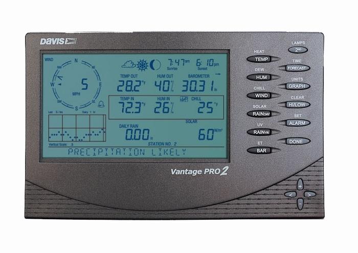Davis WH-VP2VueSens VP2 console, Vantage Vue sensor set.