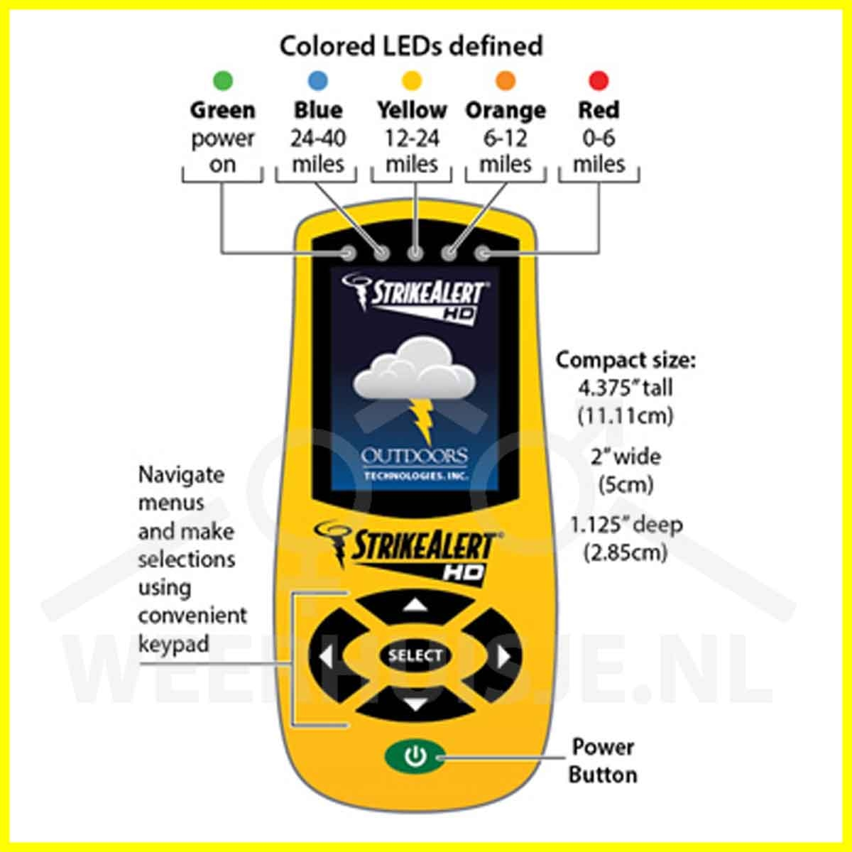 SA-LD4000 Strike Alert HD FIELD lightning  & heat index