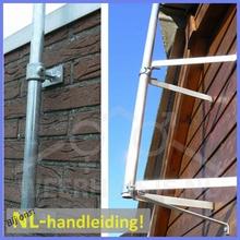 Weerhuisje weerstation mast compleet met bevestiginsmat.