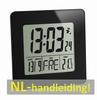 NIEUW -60.2525.01 Radiografische klok met binnentemperatuur.